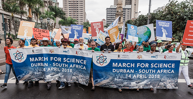 The 2018 March for Science in Durban Attracts Huge Support from Scientists and Students