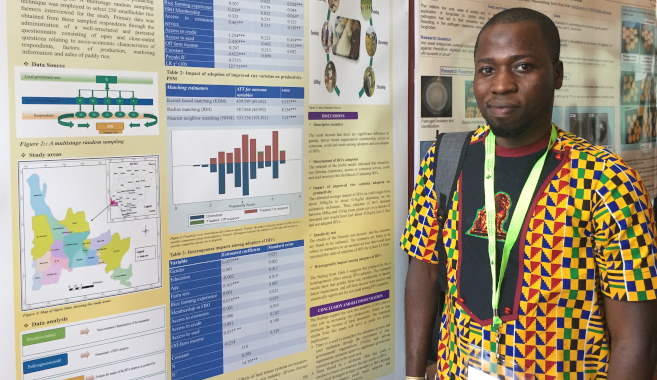Best Poster Award for Graduate Explores Improved Rice Productivity in Nigeria